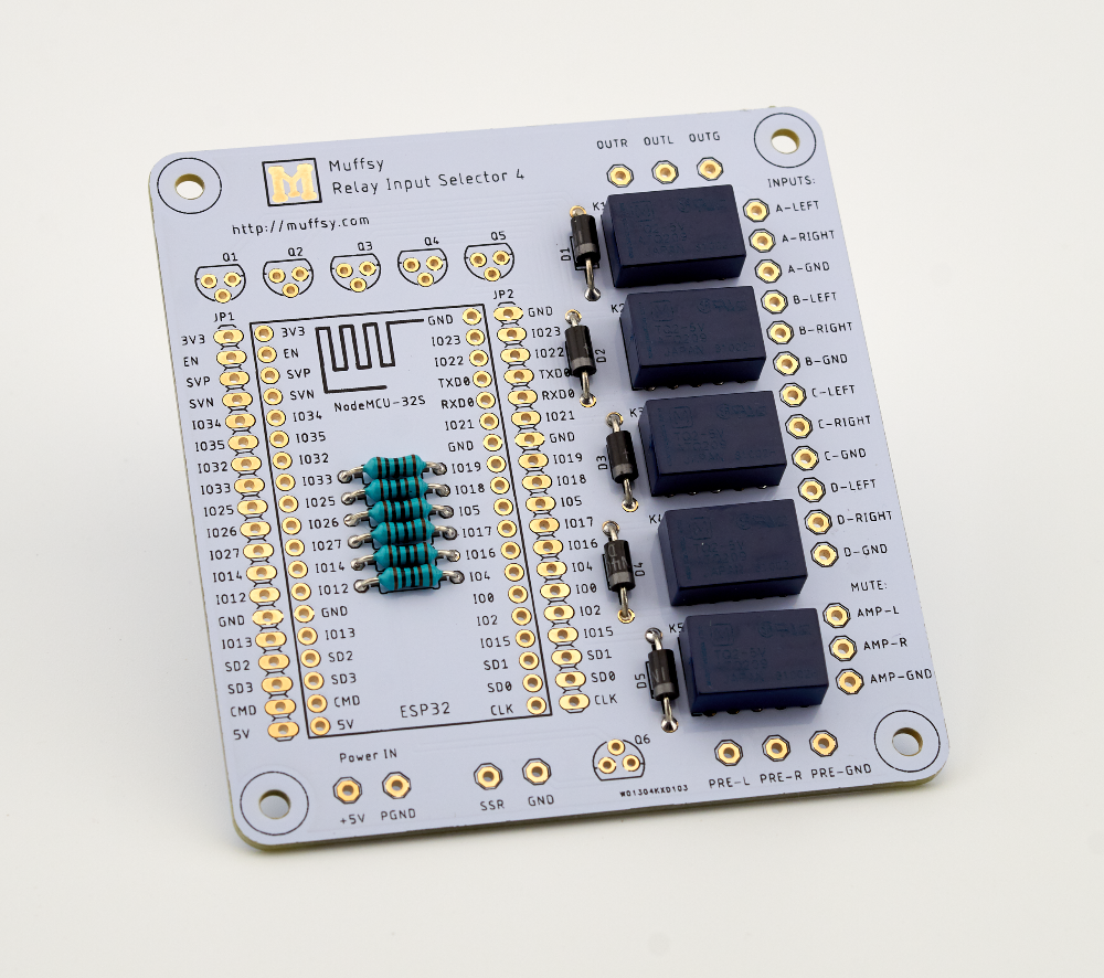 Muffsy Relay Input Selector - Relays