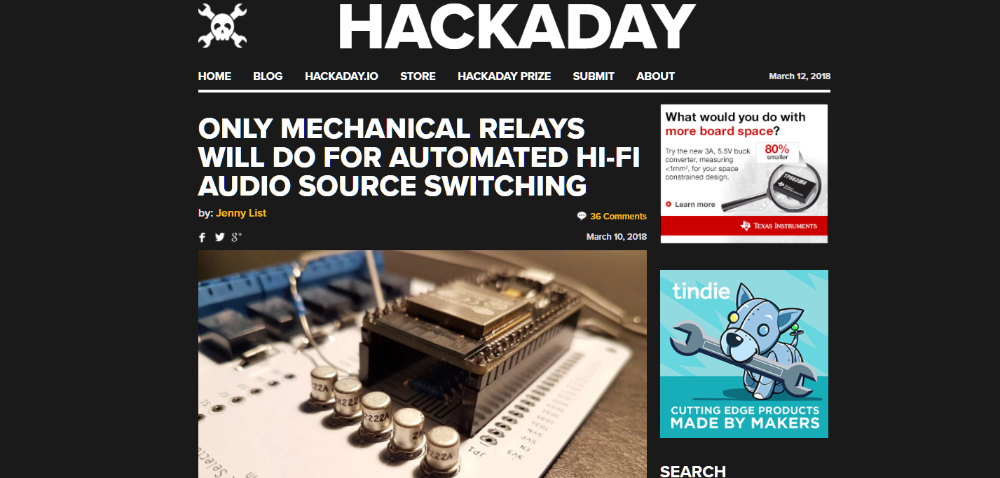 Muffsy Relay Switch on Hackaday.com