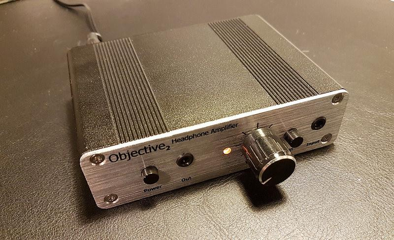 Completed O2 headphone amplifier