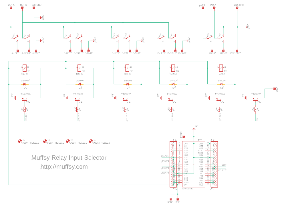 Muffsy Relay Input Selector - Schematic