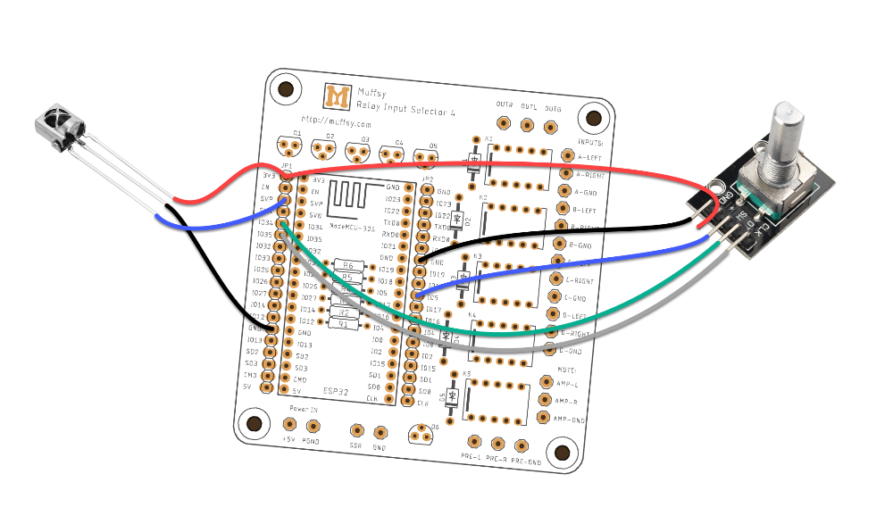 Muffsy Relay Input Selector - ESP-32